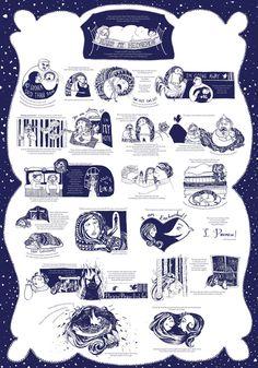 "Headline: ""Hans My Hedgehog"" Story Poster by Yael Albert"" (Saturday, January 14, 2012) Image credit: Yael Albert ♛ Once Upon A Blog... fairy tale news ♛"