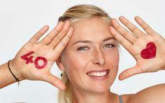 Sharapova estrela campanha de 40 anos da WTA (Foto: Reprodução)