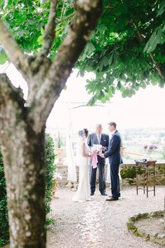 The greenery and white roses in the gardens of the ceremony location, Hotel Il Falconiere, were the perfect backdrop as the couple exchanged their heartfelt vows and became man and wife.