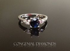 Dazzling sapphire and diamond engagement ring