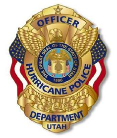 Hurricane PD UT Law Enforcement Badges, Badge Template, Police Station, Criminal Justice, Cops, Police Badges, History, Patches, Fire