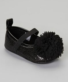 Take a look at this Black Sequin Flower Flat by Stepping Stones on #zulily today!