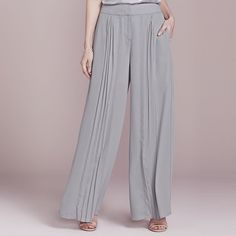 LC Lauren Conrad Dress Up Shop Collection Pleated Palazzo Pants - Women's, Size: 2 T/L, Grey