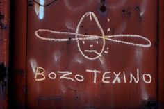 bozo textino hobo train art