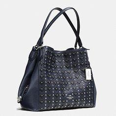 Edie Shoulder Bag 31 in Floral Rivets Leather - Coach