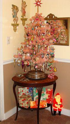 pink Christmas tree...love...