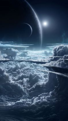 Planets and Cloud Wallpaper – Galaxy Art Wallpaper Earth, Planets Wallpaper, Cloud Wallpaper, Wallpaper Space, Scenery Wallpaper, Galaxy Wallpaper, Iphone Wallpaper, Space Planets, Space And Astronomy