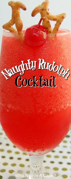 The Naughty Rudolph is fun and festive the perfect Christmas Cocktail! The Naughty Rudolph is fun and festive the perfect Christmas Cocktail! Party Knaller, Party Drinks, Party Desserts, Cocktail Drinks, Cocktail Recipes, Cocktail Ideas, Dessert Recipes, Christmas Cocktails, Holiday Alcoholic Drinks