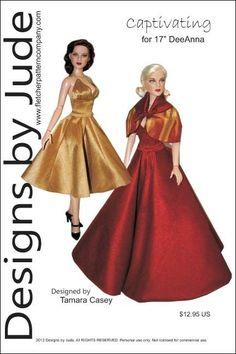 "Waterfall Doll Clothes Sewing Pattern 17/"" Athletic Body De De /& DeeAnna Tonner"