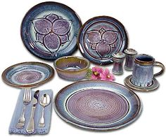 Bill Campbell Pottery - Dinnerware.  I love this stuff!  The Campbell Pottery official store is also very close to my hometown in PA.