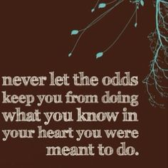 go against the odds