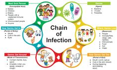 Chain of infection - Ottawa Public Health Chain Of Infection, Infection Control Nursing, Nursing School Notes, Medical School, Education Conferences, For Elise, Eye Infections, Health Lessons, Lessons For Kids