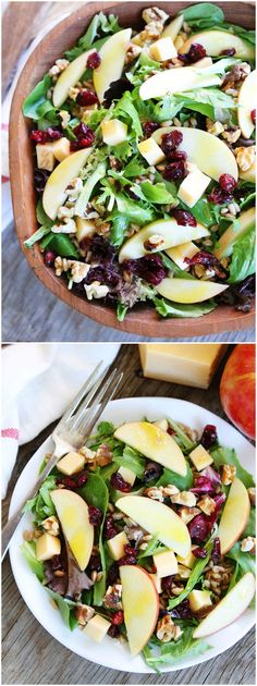 Apple, Gouda, and Farro Salad Recipe on twopeasandtheirpod.com This is the perfect fall salad!