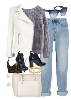 """""""Untitled #5269"""" by ashley-r0se-xo ❤ liked on Polyvore featuring HOMMAGE, Smythson, MiH Jeans, Marc by Marc Jacobs, ONLY, Chie Mihara, CC SKYE and Kenneth Jay Lane"""