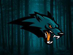 Wolf Logo by Aurélien Mahaut - American Logo Sport Theme Game Logo Design, Logo Design Services, Logo Desing, Lobo Tribal, Dek Hockey, Sports Team Logos, Esports Logo, Bold Logo, Wolf Design