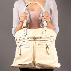 Off White Classic Business Women Fashion Designer Inspired Shoulderbag