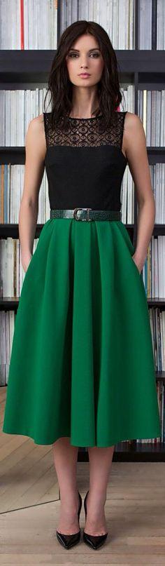 I need to make a skirt like this!!! Hmmm, looks like those shoes could hurt, and she needs a shrug.