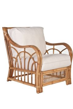 Lolita Rattan Club Chair. living room.