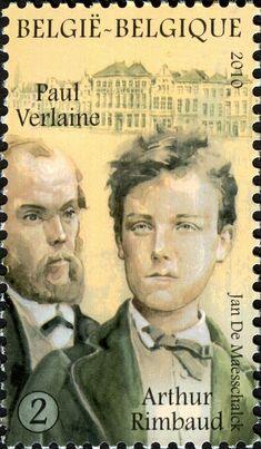 Literary Stamps: Rimbaud, Arthur/Verlaine, Paul