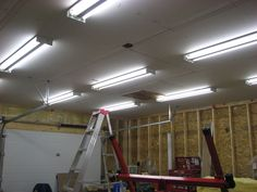 50 Garage Lighting Ideas For Men Cool Ceiling Fixture Designs