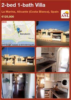 2-bed 1-bath Villa in La Marina, Alicante (Costa Blanca), Spain ►€125,000 #PropertyForSaleInSpain