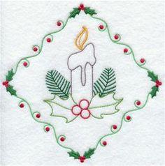 Sweet vintage Christmas candle!  :)
