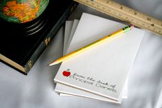 Personalized Teacher Notepads  Set of 4 From the by Lexiphilia, $15.00
