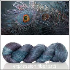 Expression Fiber Arts, Inc. - PERSEPHONE YAK SILK LACE YARN, $39.00 (http://www.expressionfiberarts.com/products/persephone-yak-silk-lace-yarn.html)