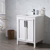 "$600. Found it at AllModern - Emily 25"" Single Sink Bathroom Vanity Set"