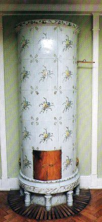 Swedish porcelain fireplace from the 18th century.