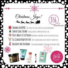 Christmas pampering essentials ... Gotta love vanilla mint ... Posh Happy People