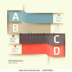 Modern Design Template / Can Be Used For Infographics / Numbered Banners / Horizontal Cutout Lines / Graphic Or Website Layout Vector - 120979624 : Shutterstock