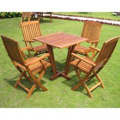 International Caravan Royal Tahiti 'Gibraltar' 5-piece Outdoor Dining Set - Overstock™ Shopping - Big Discounts on International Caravan Dining Sets  $447.99