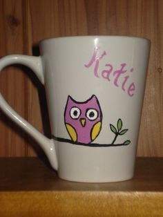 Custom Painted Mugs by dirtydishes on Etsy, $10.99