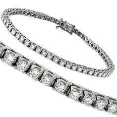 Estate_4.50ct_Round_Cut_Diamond_14k_White_Gold_Tennis_Bracelet | New York Estate Jewelry | Israel Rose