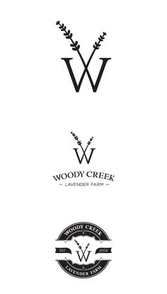Woody Creek Lavender Farm Branding by Rae Moore, via Behance