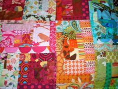 Roy G. Biv scrap quilt