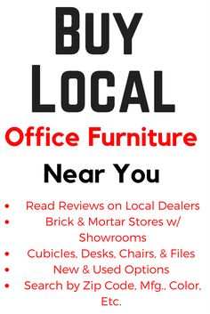 Buy Local from a Office Furniture Store Near You. Office Furniture Resale Find a local office furniture store with a showroom for cubicles, desks, chairs, & files. Business to Business supporting local jobs. Office Furniture Stores, Thrift Store Furniture, Kids Bedroom Furniture, Space Saving Furniture, Refurbished Furniture, Repurposed Furniture, Shabby Chic Furniture, Online Furniture, Rustic Furniture