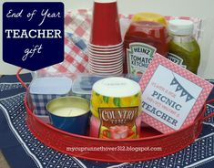 "END OF YEAR TEACHER GIFT - ""It's been a real picnic having a teacher like you"" PLUS FREE PRINTABLE - would make cute appreciation lunch theme idea too"
