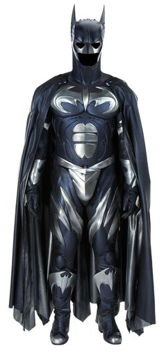 """Arctic Batsuit used during the final film sequence between Batman and Mr. Freeze, created for George Clooney's portrayal of the caped crusader in """"Batman and Robin"""" (1997)"""