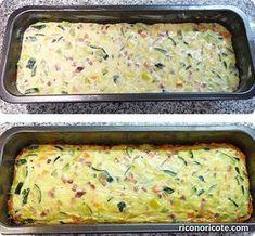 Leek and zucchini pie - Recetas - Pastel De Torta Quiches, Vegetable Recipes, Vegetarian Recipes, Healthy Recipes, Salada Light, Salade Healthy, Real Food Recipes, Cooking Recipes, Fish Recipes