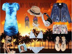 """My Summer Anthem - L'été Summer"" by sandrakrim on Polyvore"