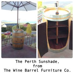 The Perth Sunshade Wine Barrel Parasol - from The Wine Barrel Furniture Co.