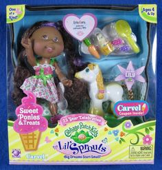 Cabbage Patch Kids 2008 Lil' Sprouts Girl Erin And Sweet Pony Lily w/Treats NIB #PlayAlong #CabbagePatchKids