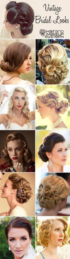 Vintage bridal hair....