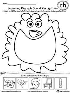 Color the Pictures: Words Beginning with Letter S