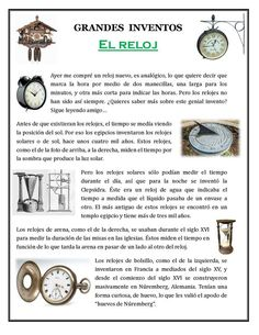 Great Inventions/Grandes inventos Elementary Spanish, Spanish Class, Spanish Lessons, Teaching Spanish, Learn Spanish, English Grammar Worksheets, Reading Practice, Great Inventions, Dual Language
