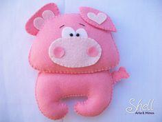 Felt pig