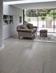 Junckers Oak Silver Pearl solid wide board floor