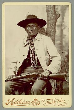 Naiche (aka Natchez) the youngest son of Cochise and Dos-teh-seh - Chiricahua Apache - circa 1887